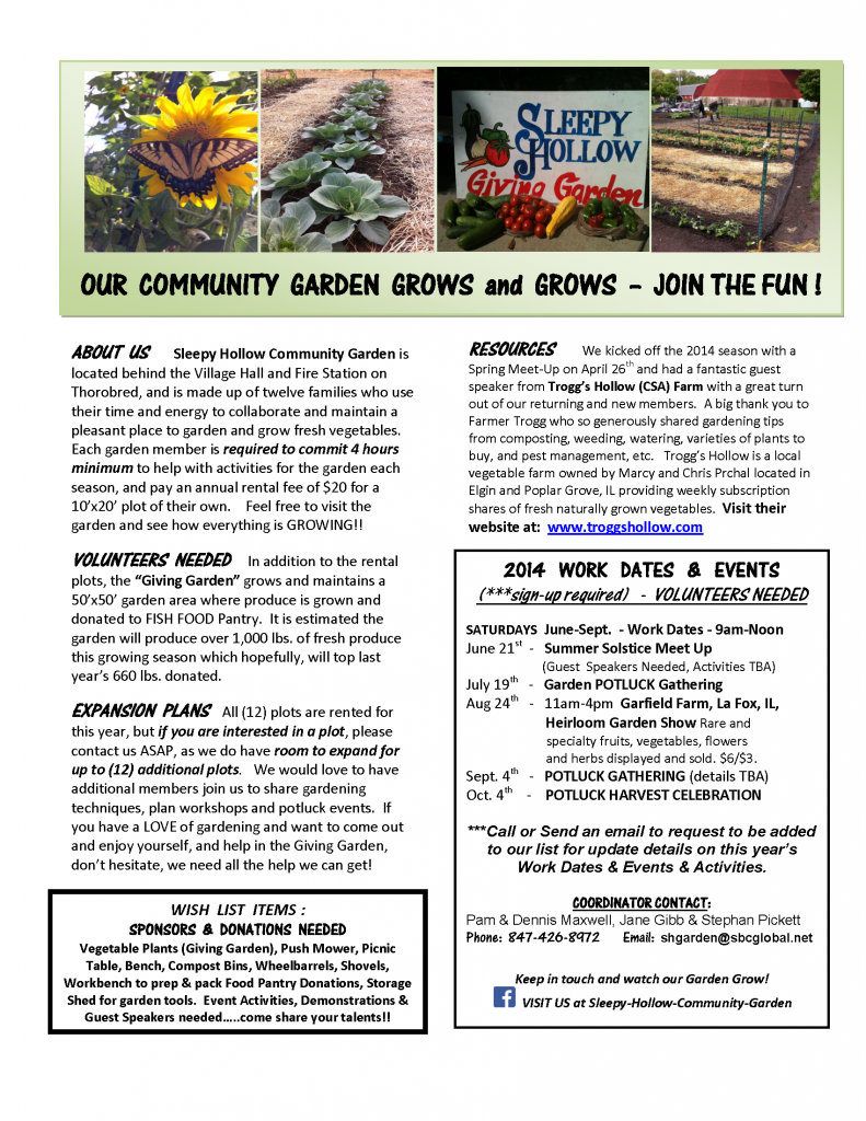 About Sh Community Garden Village Of Sleepy Hollow